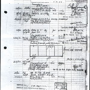 Army Records Ron Sheet 11