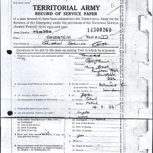 Army Records Ron Sheet 14