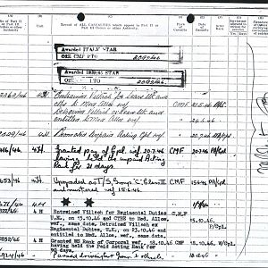 Army Records Ron Sheet 15