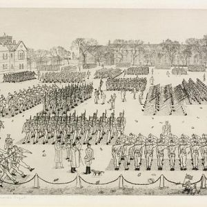 11 o'clock Parade : Guards' Depot; IWM ART LD 466