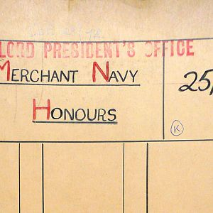 Procedure for the submission of recommendations for awards to the Merchant Navy
