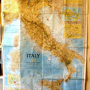 Nat Geographic Map Of Italy