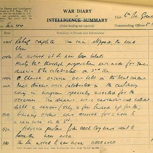 January War Diary, 6th Battalion, Grenadier Guards, Jan - Mar 1944