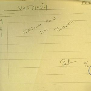October 1939 War Diary, 1 Guards Brigade Anti-Tank Company