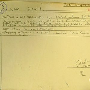 November 1939 War Diary, 1 Guards Brigade Anti-Tank Company