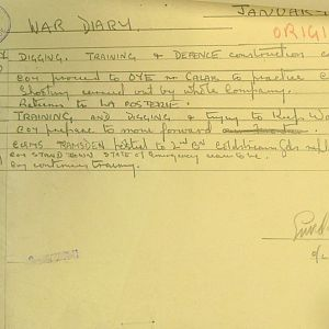 January 1940 War Diary, 1 Guards Brigade Anti-Tank Company