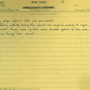 June 1940 War Diary, 7 Guards Brigade, Headquarters