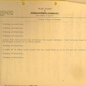 March 1940 War Diary, 3rd Battalion, Grenadier Guards