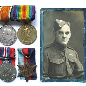 William Henry Churton with medals