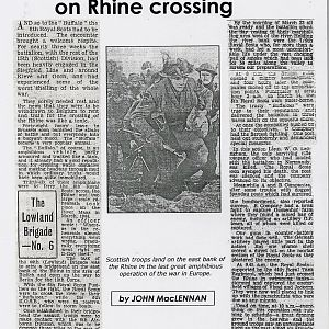 8th Royal Scots Assault Crossing of The Rhine: 1st page