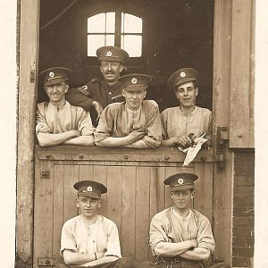 Sapper Edward Albert Dyos (standing, left) (1920s)