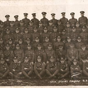 55 Field Company RE - Catterick - 1923 (Sapper Edward Albert Dyos, back row, 2nd from left)
