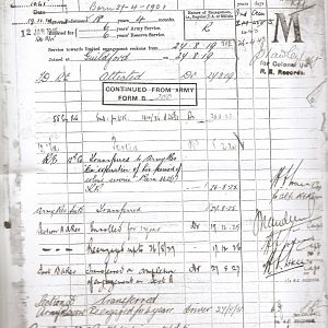 Spr Edward Albert Dyos - Army Records