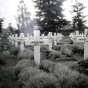 Bayeux cemetery, Normandy, 1947.