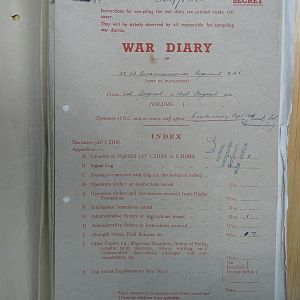 52 Recce Regt War Diary August 1944
