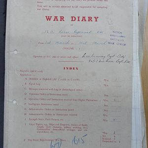 52 Recce Regt War Diary March 1945