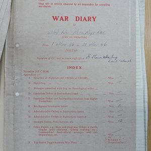 52 Recce Regt War Diary March 1946
