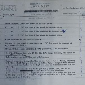 078 Aug 44 Regt WD Sheet 1