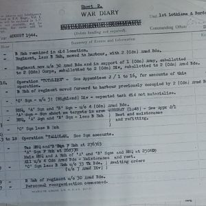 079 Aug 44 Regt WD Sheet  2