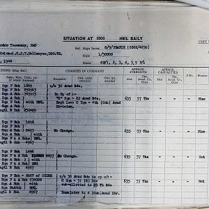 082 Aug 44 Situation Report Sheet 1