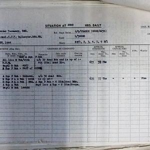 083 Aug 44 Situation Report Sheet 2