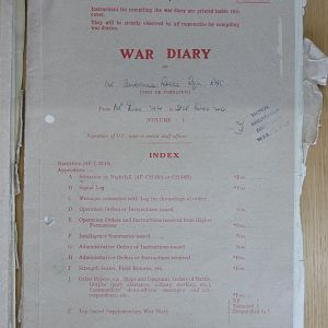 1 Airborne Recce War Diary December 1944