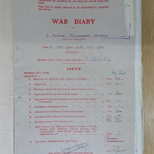 1 Airborne Recce War Diary May 1945