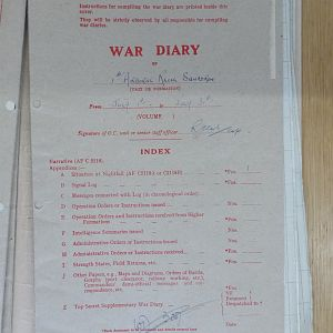 1 Airborne Recce War Diary July 1945