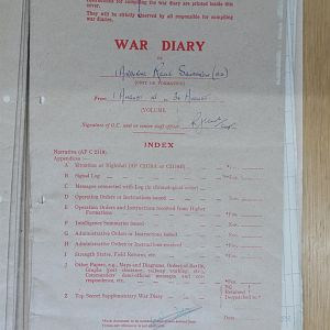 1 Airborne Recce War Diary August 1945
