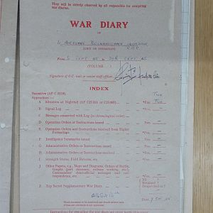 1 Airborne Recce War Diary September 1945