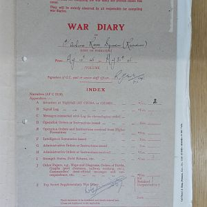 1 Airborne Recce War Diary May 1945 Residues