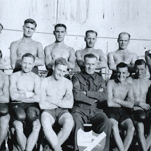 George Owen Farrell On The Left Top Row. Stalag Xx1d Ger25 GEGENV11 1940 0r 41