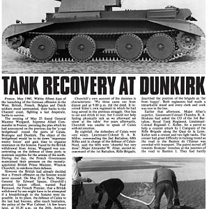 After The Battle No23 Page 40 Tank Recovery At Dunkirk