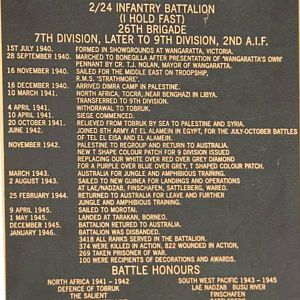 History of the 2/24th Infantry Battalion , 9th Division , 2 AIF