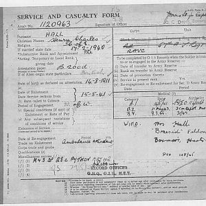 Service And Casualty Form P1