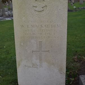 Gravestone of Sgt William Ian MACKAY, Canwick (Old) Cemetery, Lincoln.