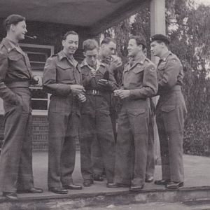 WW2 Trooper J Pete Walker 2nd From Left 24th Lancers To Start