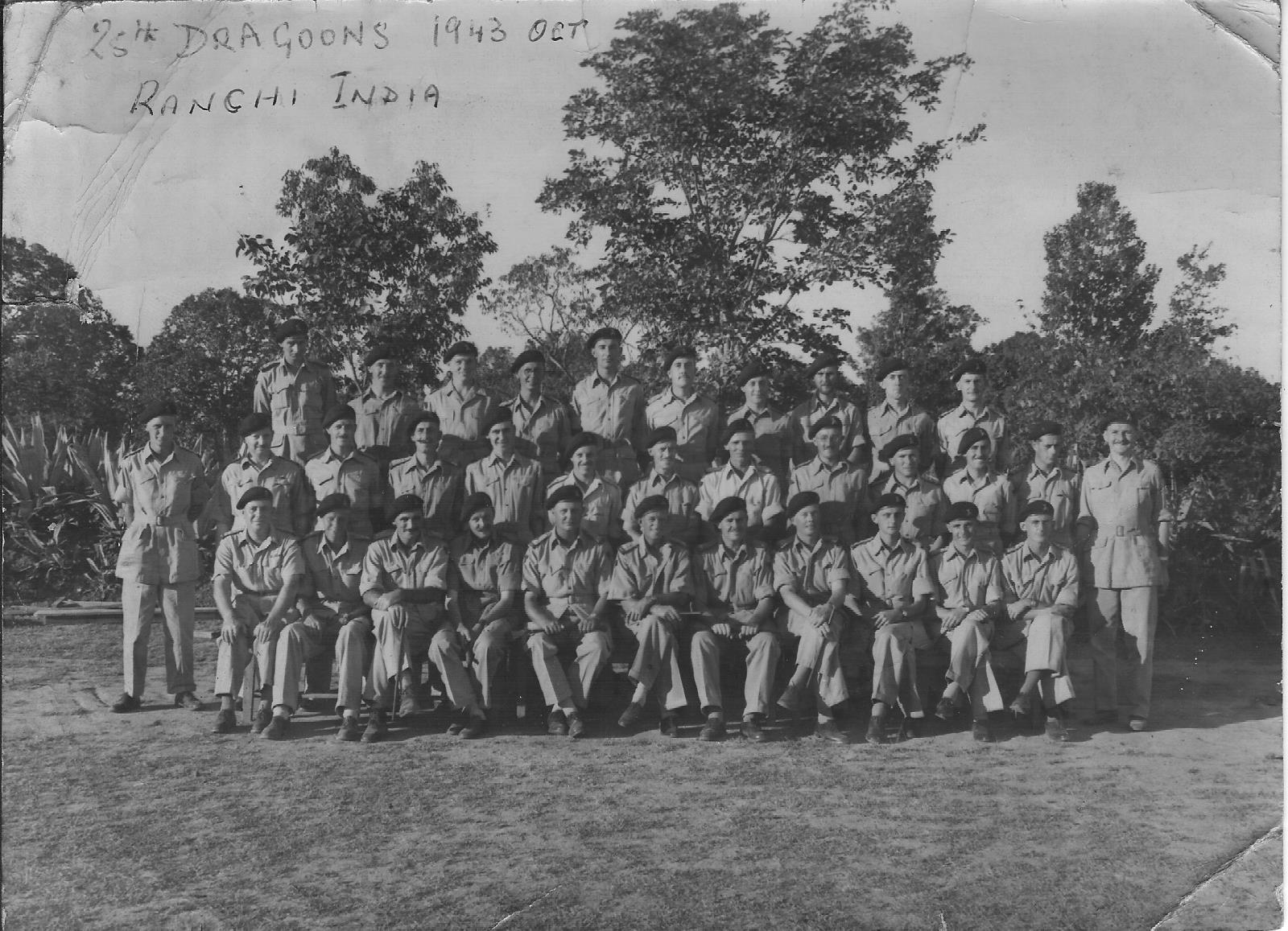 25th Dragoons Ranchi, India. October 1943