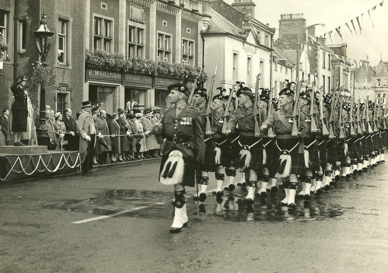 7th.9th Royal Scots On parade As A post War T.A. Battalion.