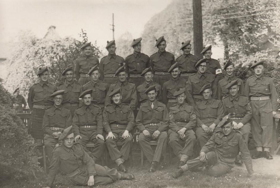 B Coy HQ 8th Royal Scots. VE Day 2, 10th May 1945, Bargteheide, Germany.