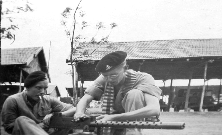 Dad with browning gun 146th RAC India 1944
