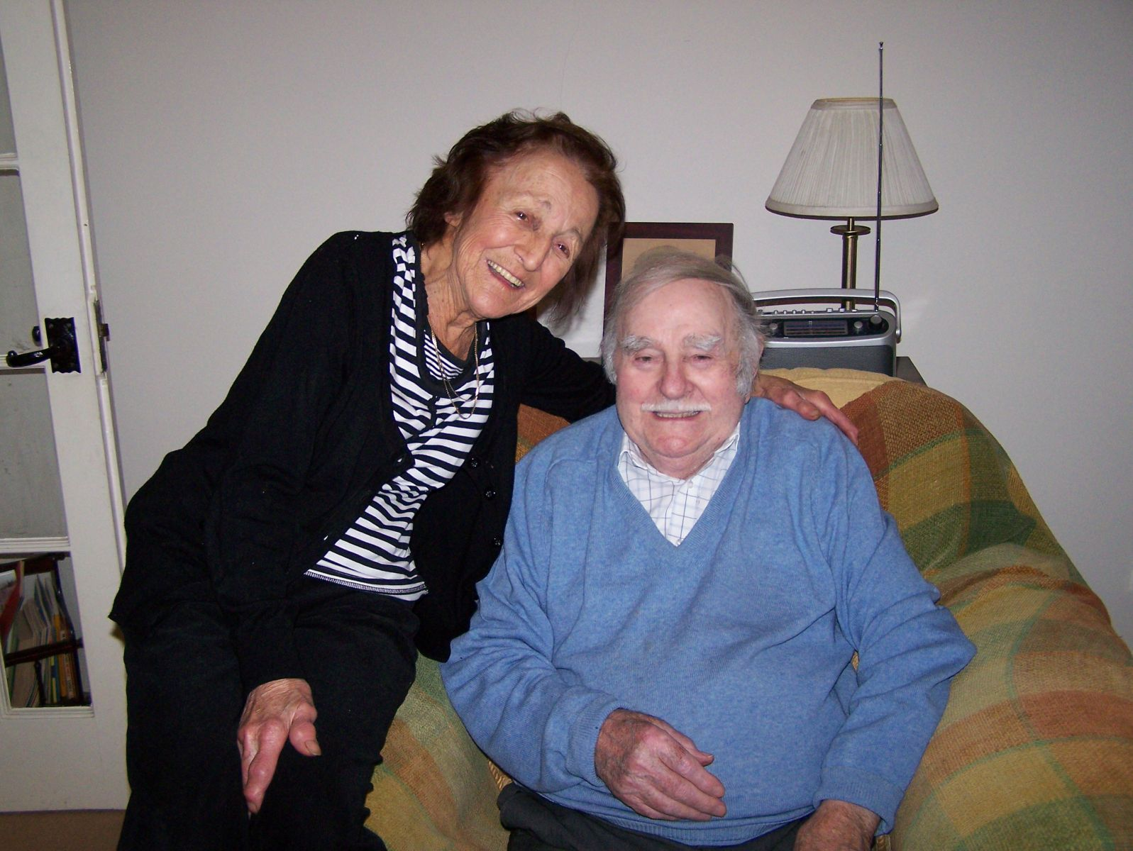 Frank Barratt November 2014 with wife Kay