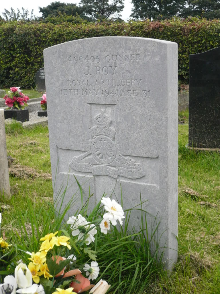 Gunner JAMES ROY 1490405, 9 Bty., 3 Searchlight Regt., Royal Artillery
