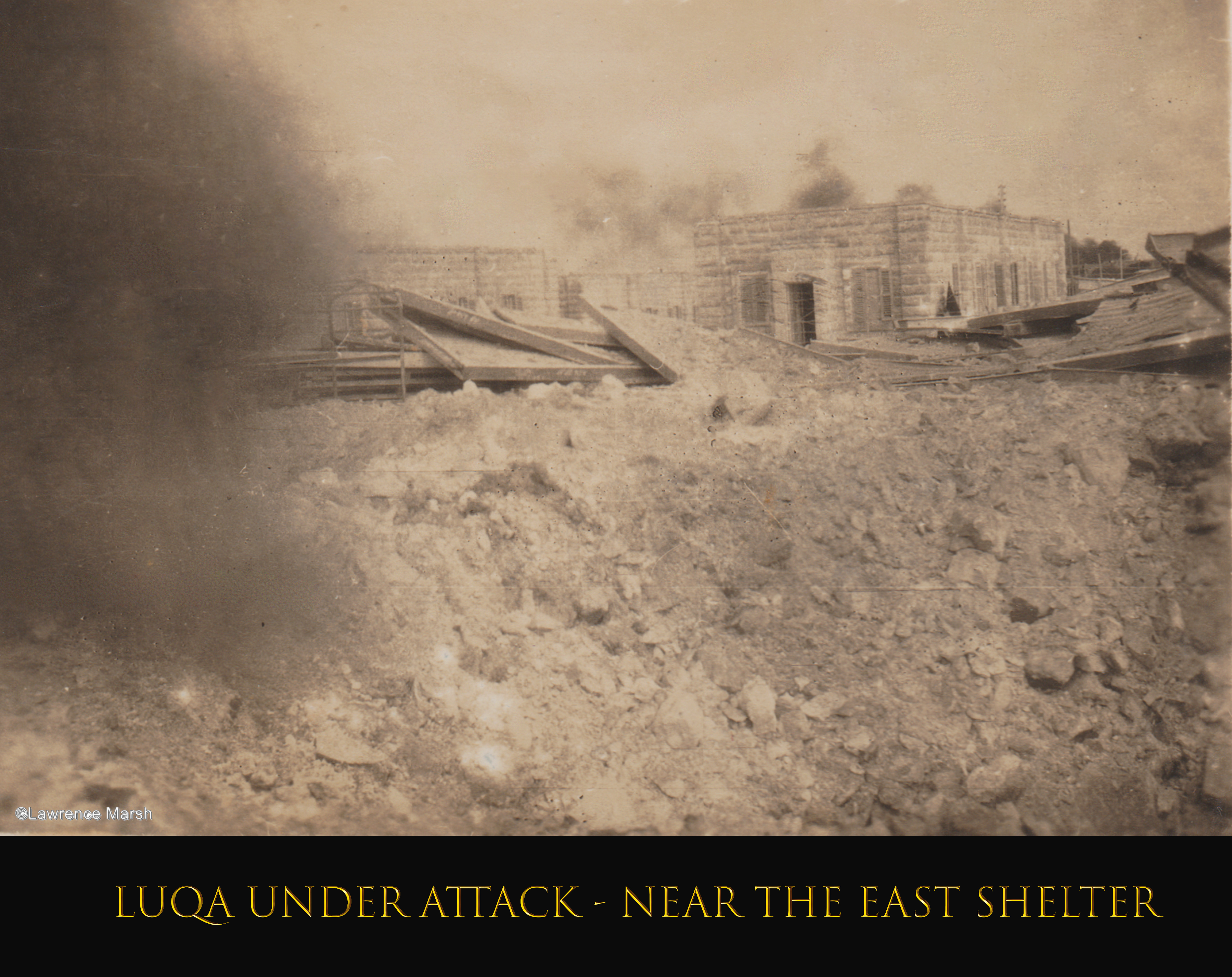 Luqa Under Attack - Near The East Shelter