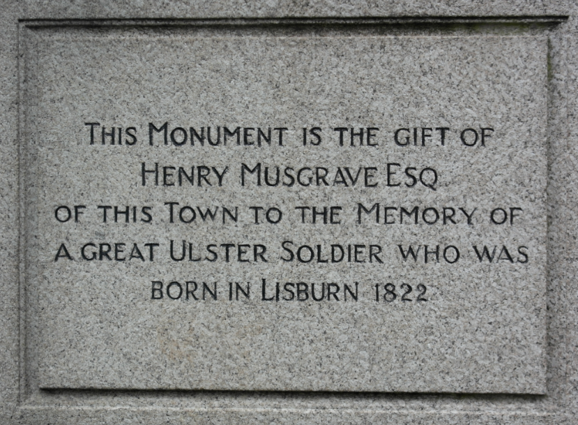 Memorial, Lisburn, Brigadier-General John Nicholson (11 December 1822 – 23 September 1857)