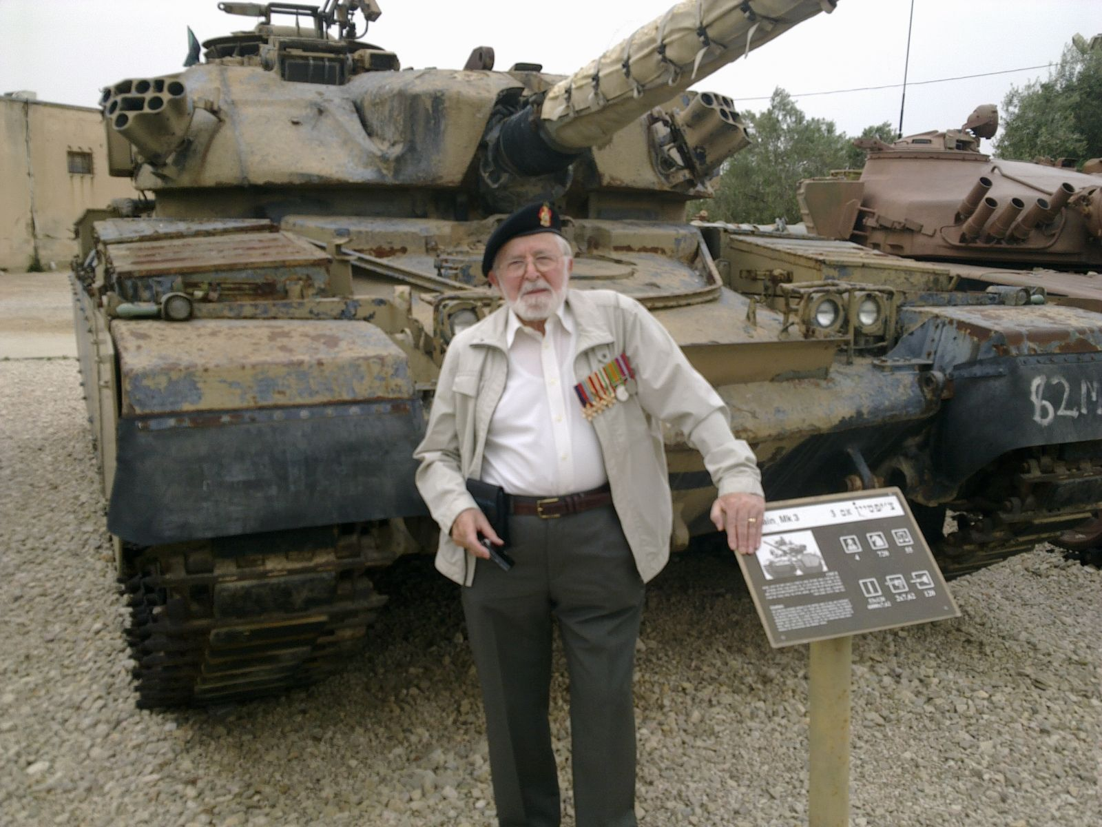 Ron In front of Chieftan tank.