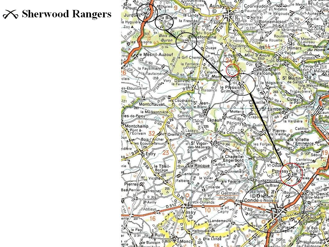 Sherwood Rangers   August 1944 route ideas 2