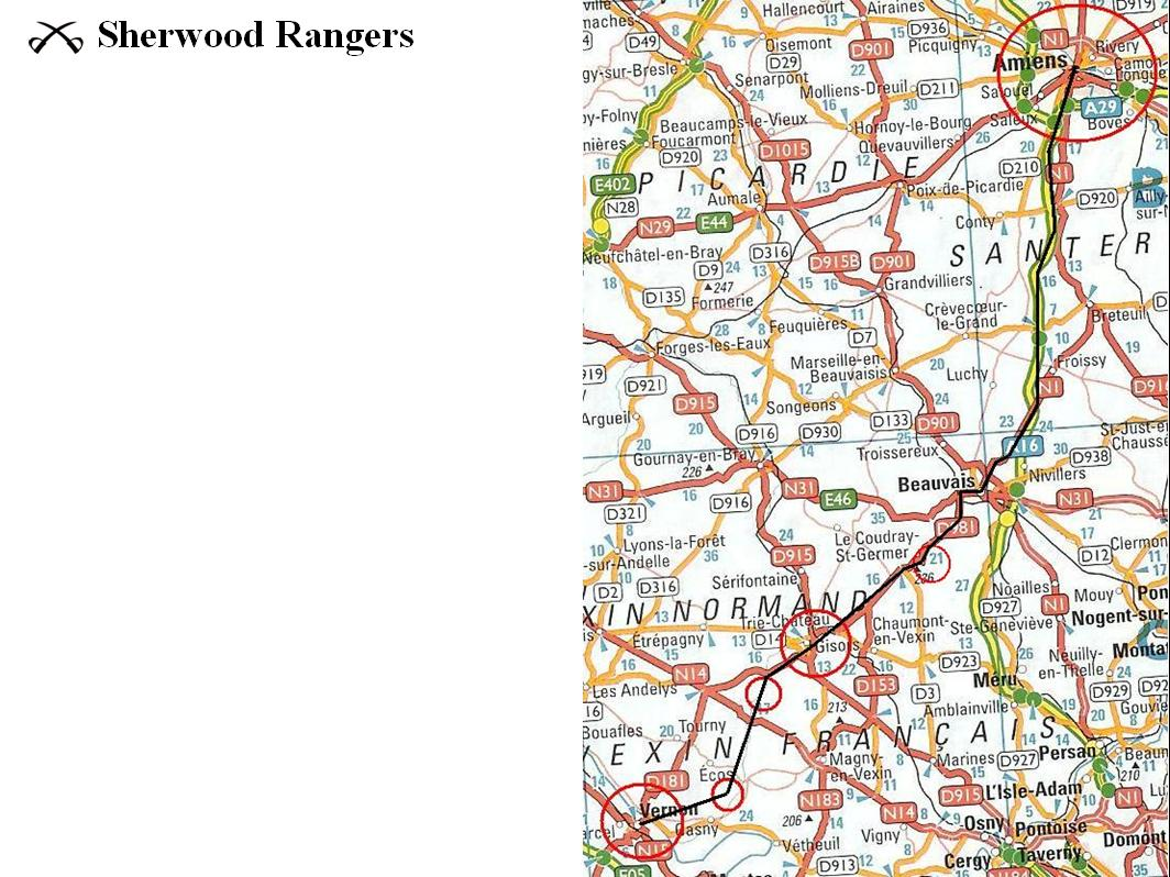 Sherwood Rangers   August 1944 route ideas 5