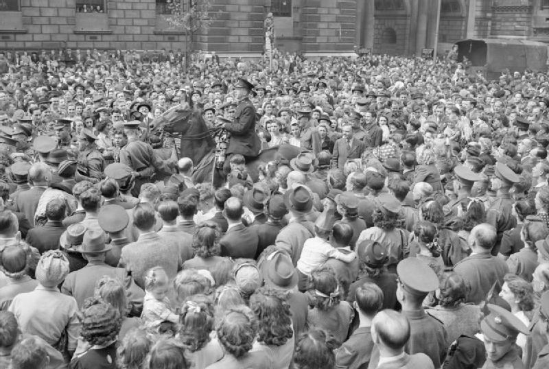Victory in Europe Day, Whitehall, London; IWM D 24585