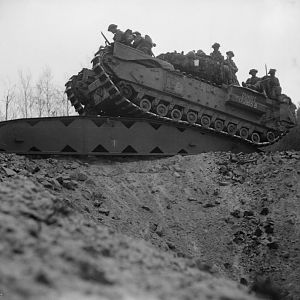 Churchill tanks of the 3rd Scots Guards, 6th Guards Tank Brigade, between Celle and the River Elbe, 14 April 1945; IWM BU 3427